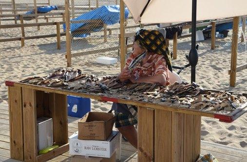 Femmes de pêcheurs à Nazaré, Portugal