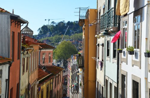 Ruelle colorée de Porto, Portugal