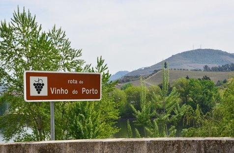 Panneau de la route de la vallée du Douro, Portugal