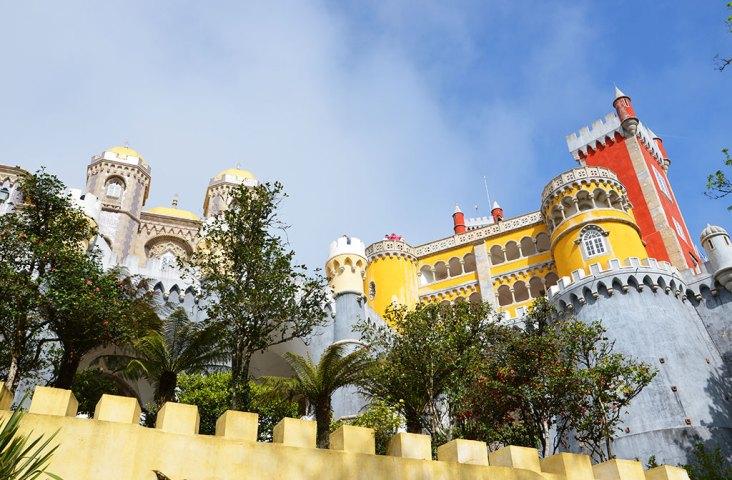Vue sur le Palacio Da Pena, Sintra, Portugal