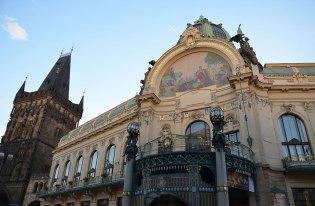 Façade de la maison municipale, salle de concert de Prague