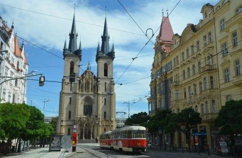 Vue sur une Eglise de Prague