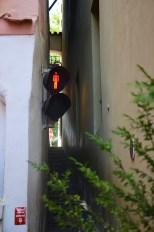 Perspective sur la plus petite rue de Prague