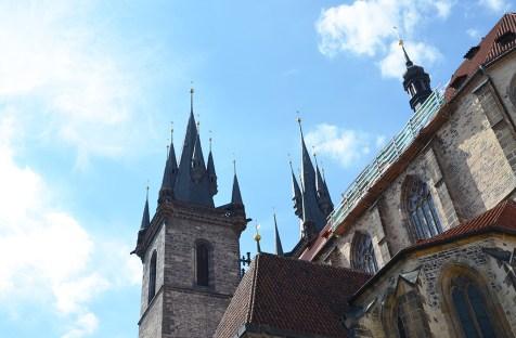 Vue extérieure du château de Prague