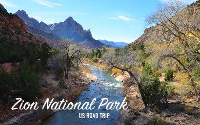 Paysage du Zion National Park, US road trip