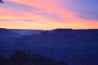Coucher de soleil sur le Grand Canyon depuis Desert View