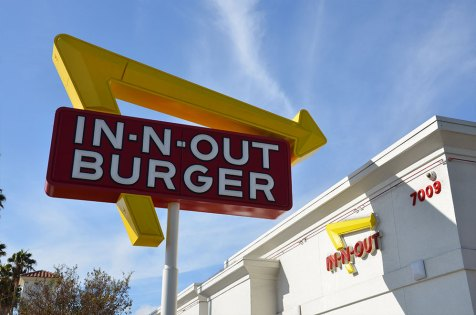Déjeuner au 'In N Out Burgers', Los Angeles