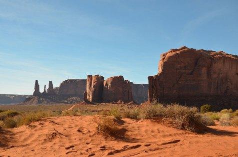 Paysage désertique de Monument Valley, USA