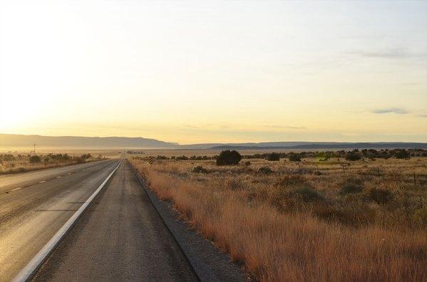 Lever de soleil sur la Route 66