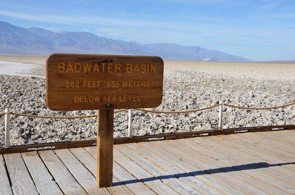 Badwater Basin, désert de sel de Death Valley