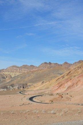 Vue sur Artist Road, Death Valley