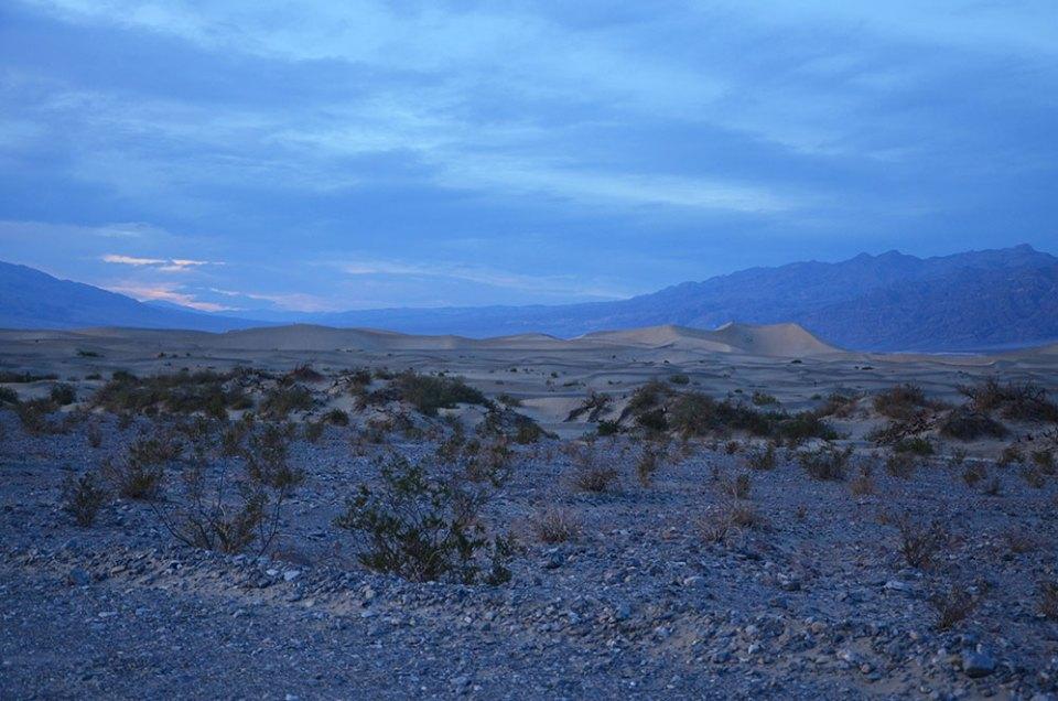 Coucher de soleil sur Death Valley, US