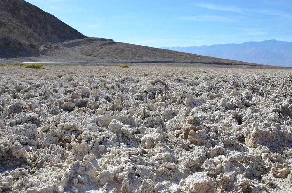 Cristaux de sel de Badwater Basin, désert de sel de Death Valley