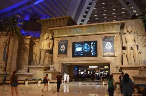 Intérieur de l'hôtel Luxor de Las Vegas