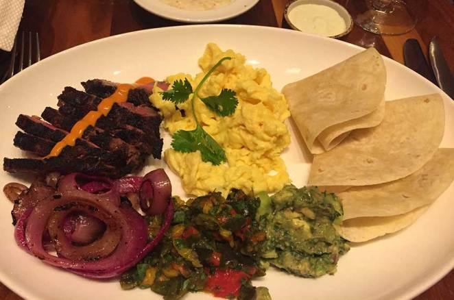 Assiette d'un déjeuner de viande Black Angus, Las Vegas
