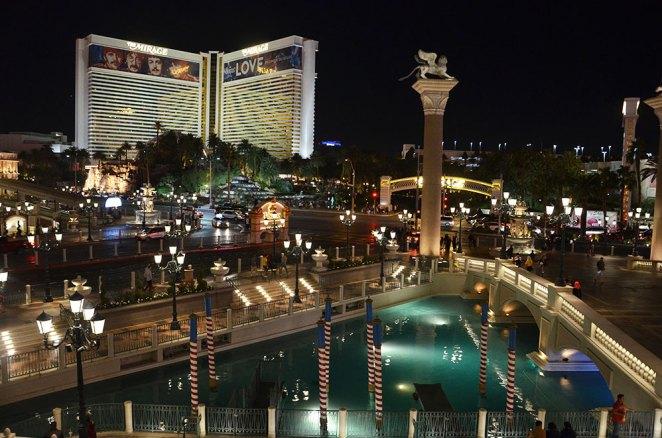 Vue sur les canaux de l'hôtel Venetian de Las Vegas