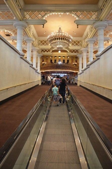 Tapis roulant entre deux hôtels de Las Vegas.