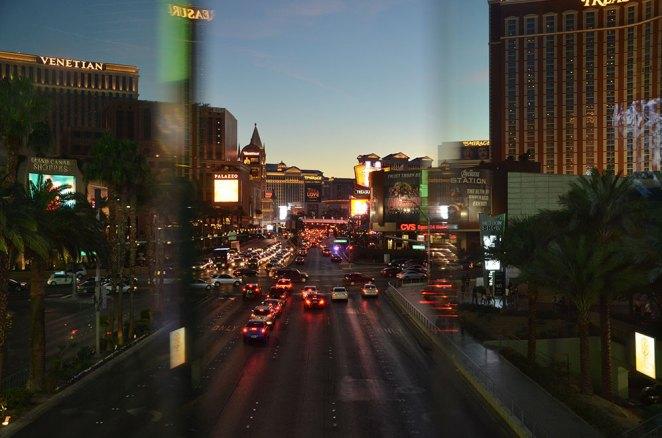 Vue sur le Strip de Las Vegas