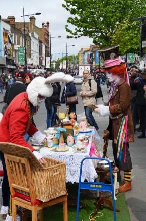 Vendeurs ambulants, Camden Town, Londres