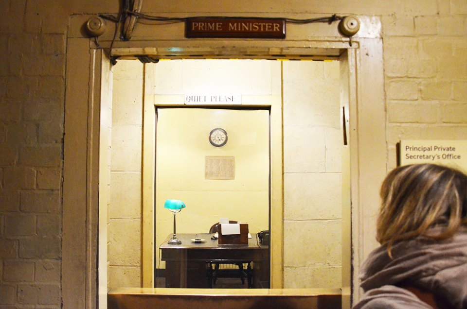 Bureau du bunker des Churchill War Rooms, Londres