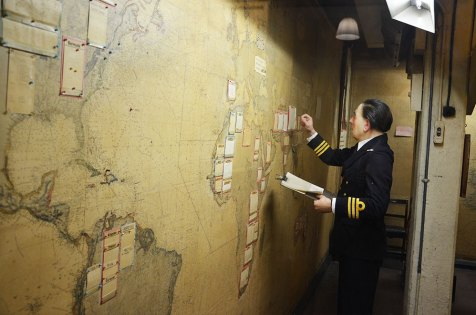 Salle des cartes du bunker des Churchill War Rooms, Londres