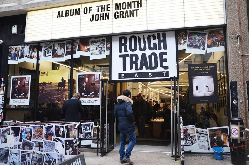 Façade du disquaire Rough Trade, Londres