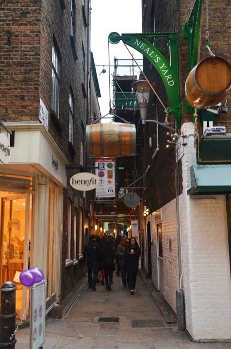 Une rue du quartier de Soho, Londres