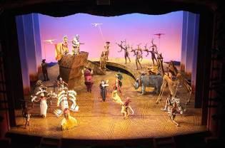 Scène de fin du Music Hall The Lion King, Londres