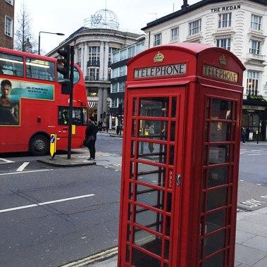 Londres, cabine téléphonique