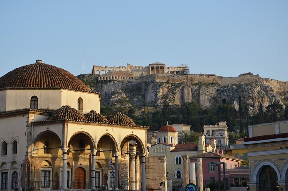 Vue sur l'Erechthéion, Athènes, Grèce