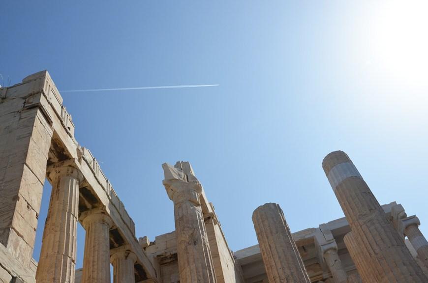 les Propylées, Acropole, Athènes, Grèce