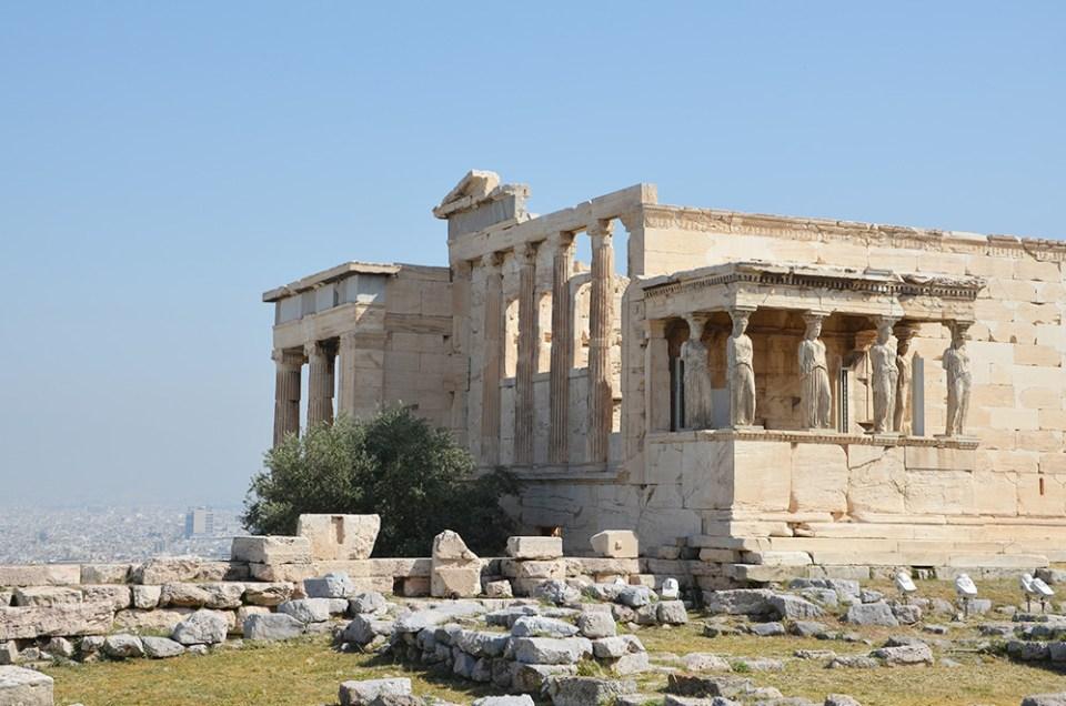 l'Erechthéion, caryatides, Athènes, Grèce