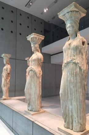 Musée de l'Acropole, caryatides, Athènes, Grèce