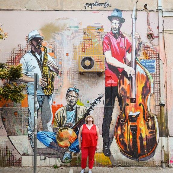 Graffitis dans le Quartier de Plaka, Athènes, Grèce,