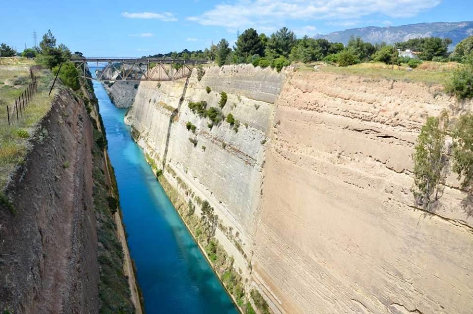 Vue sur le Canal de Corinthe, Grèce