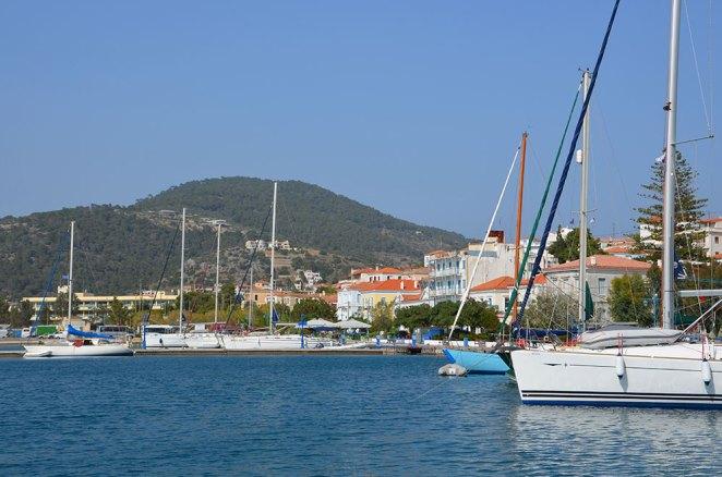 Port de l'île de Poros, Grèce