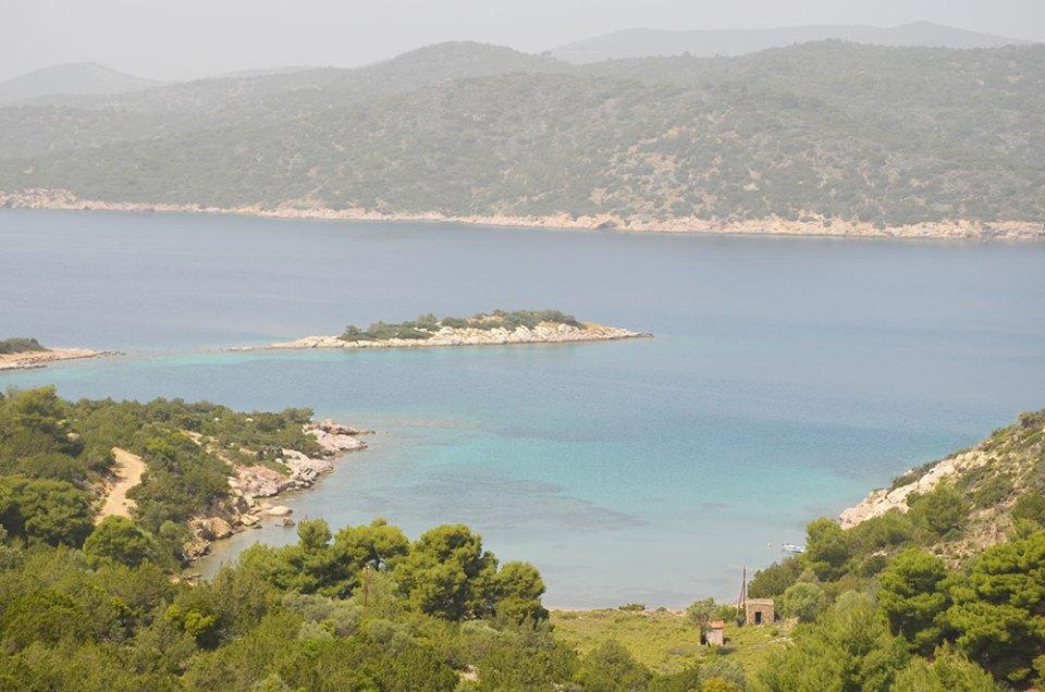 Vue sur la baie de Poros, Grèce