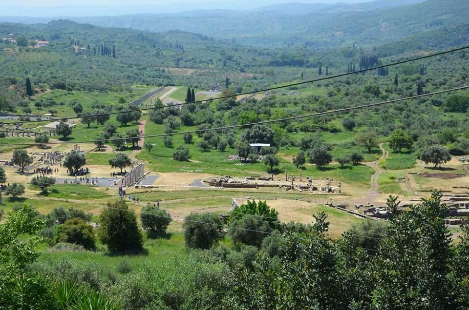 Vue sur les vestiges de l'ancienne Messene, Grèce