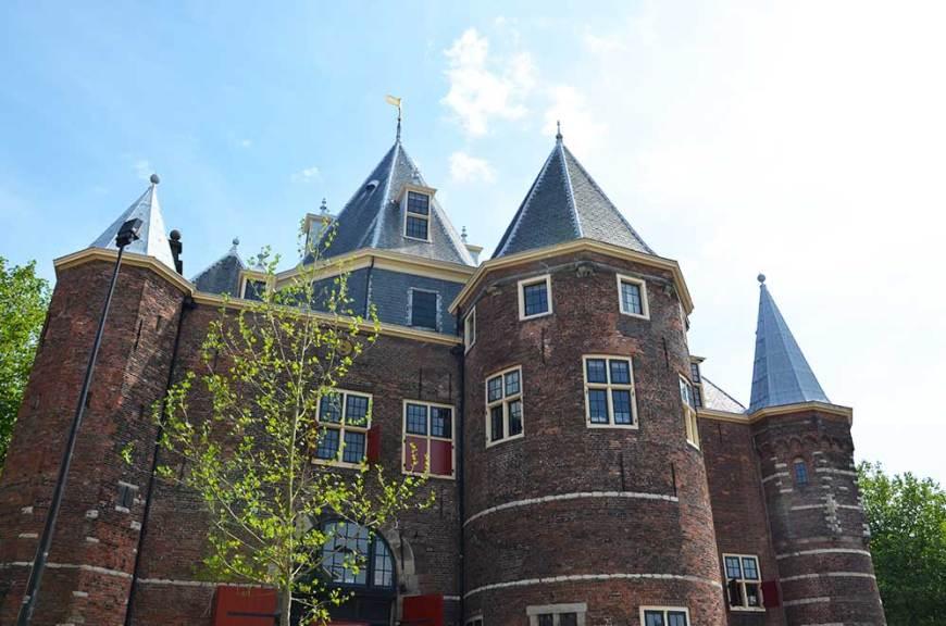 Façade d'In de Waag, le chateau d'Amsterdam