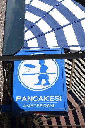 Enseigne de Pancakes, un restaurant d'Amsterdam
