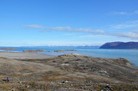 Magnifique panorama de la Baie de Monacobreen, Svalbard