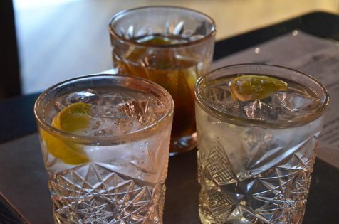 Verres de cocktails du Karlsberger Pub, Longyearbyen, Svalbard