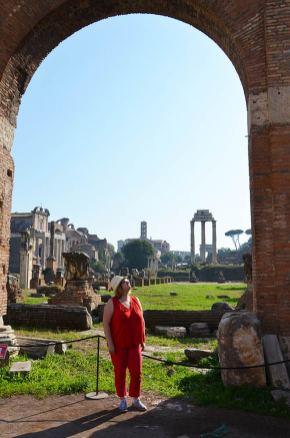 Marie-Catherine au Forum Romain, Rome, Italie