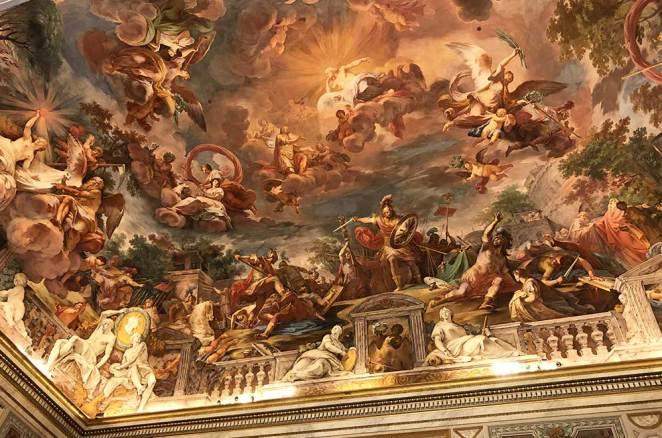Plafond de la Galleria Borghese, Rome, Italie