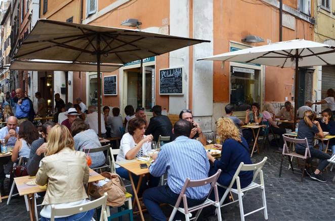Terrasse du quartier juif, Rome, Italie