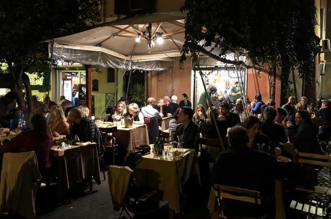 Restaurant dans le Trastevere, Rome