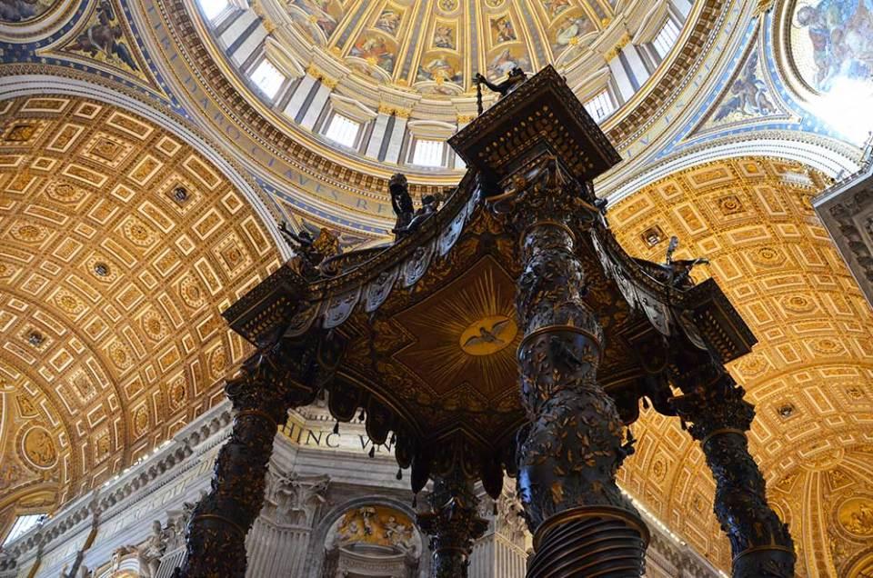 Intérieur de la Basilique Saint Pierre, Vatican, Rome, Italie