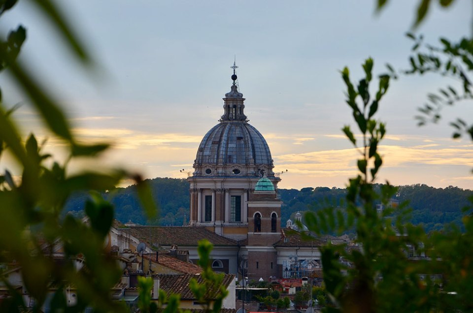 Vue sur Rome de la Villa Medicis, Rome, Italie