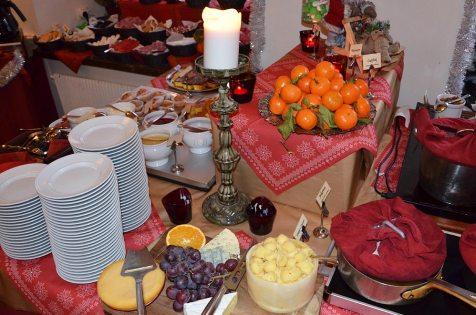 Buffet du déjeuner de noël à Stockholm, Suède