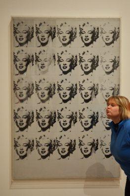 Oeuvre d'Andy Warhol, Sérigraphie, Marilyn Monroe in Black and White, au Musée d'Art Moderne de Stockholm